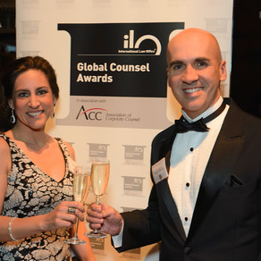Recognition: amongst the World's Top 5 General Counsel, at Global Counsel Awards (ILO/ACC) - at NYC