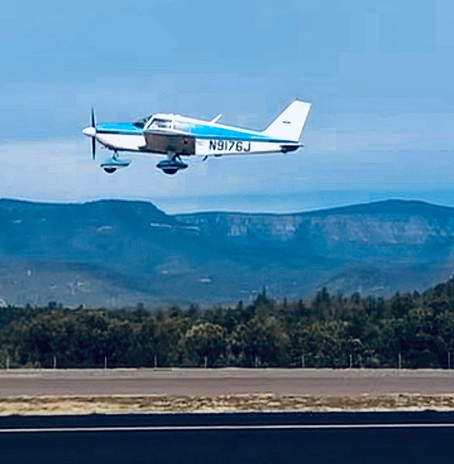 Hannah flying over Payson Airport