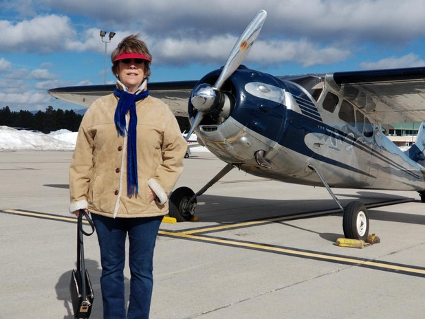Kandis with her Cessna 195