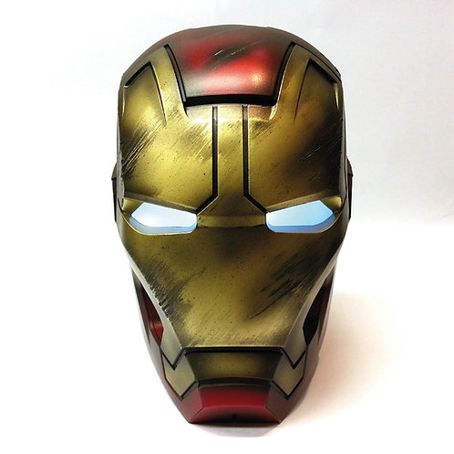 Iron Man Mark 43 Helmet Battle Damaged Edition Life-Size Bluetooth Speaker