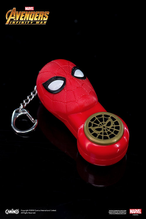 Key Chain With Small Flashlight - Iron Spider