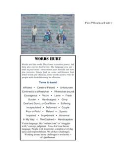 Words Hurt Rack card- side 1