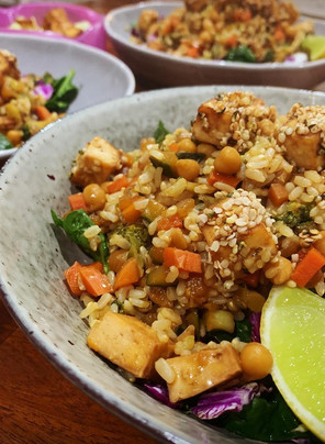 Vegan, GF, Oil Free Fried Rice