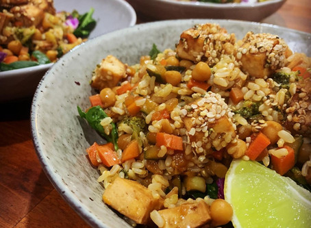 Vegan, GF, Oil Free Fried Rice