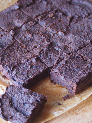 """""""Where do you get your protein from?"""" Chocolate Black Bean Brownies"""