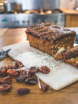Carrot Loaf with Date Caramel
