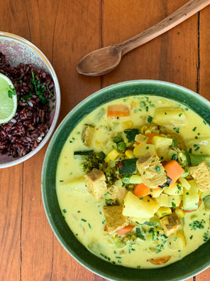 Pineapple, Coconut, Lime, Tempeh Vegan Curry