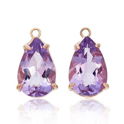 Pear Cut Purple Amethyst Drops