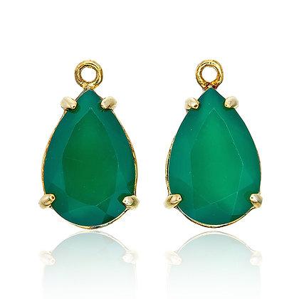 Pear Cut Green Chalcedony Drops