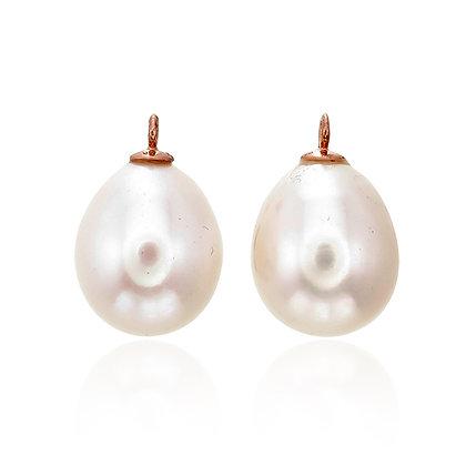 Teardrop Freshwater White Pearl Drops