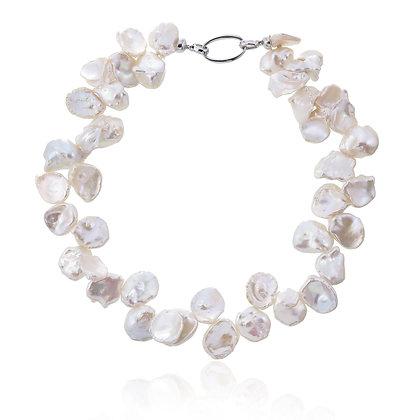 Freshwater Petal Pearl Choker Necklace