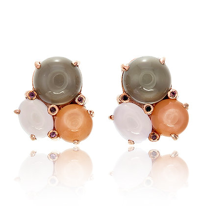 Moonstone Cluster Studs