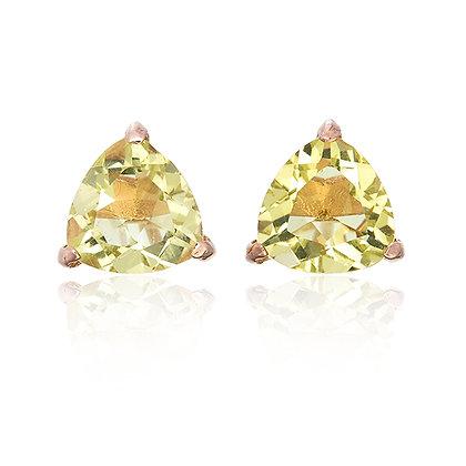 Trillion Cut Gemstones Studs