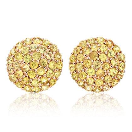 Yellow Sapphire Round Studs
