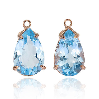 Pear Cut Blue Topaz Drops
