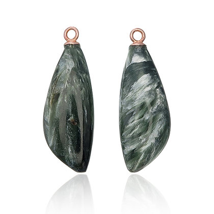 Seraphinite Asymmetrical Marquise Drops
