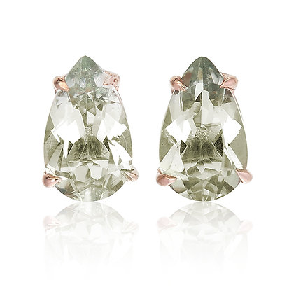 Pear Cut Gemstones Studs
