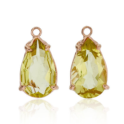 Pear Cut Lemon Quartz Drops