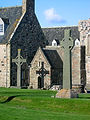 Iona-Abbey-entrance-and-crosses-C-2004-S