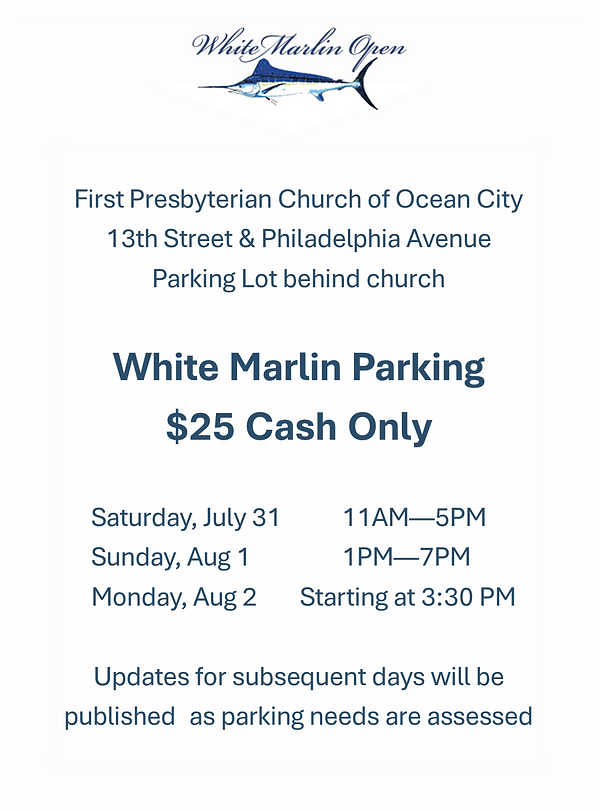 2021 White Marlin Open Parking Post.png