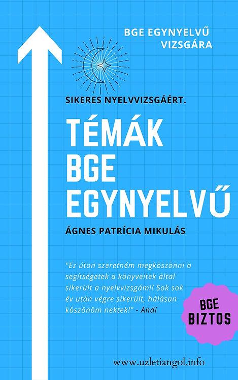 TÉMÁK BGE EGYNYELVŰ