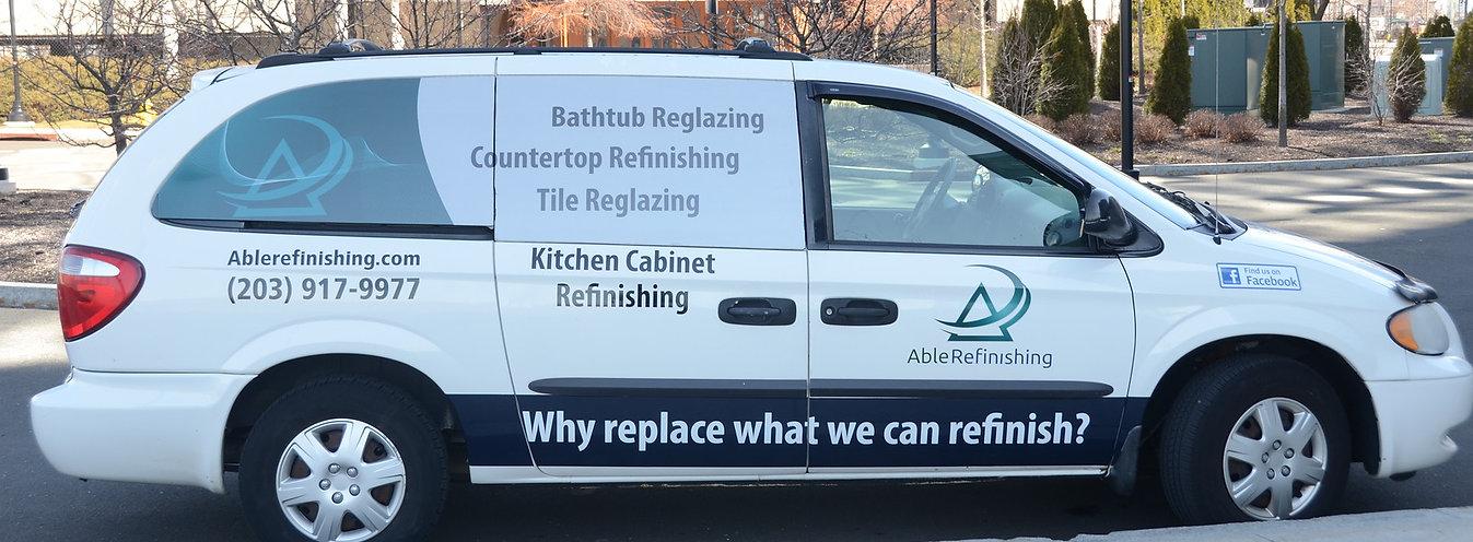 Kitchen Cabinet Refinishing, Kithen Cabinet Reface, Bathtub Reglazing Van