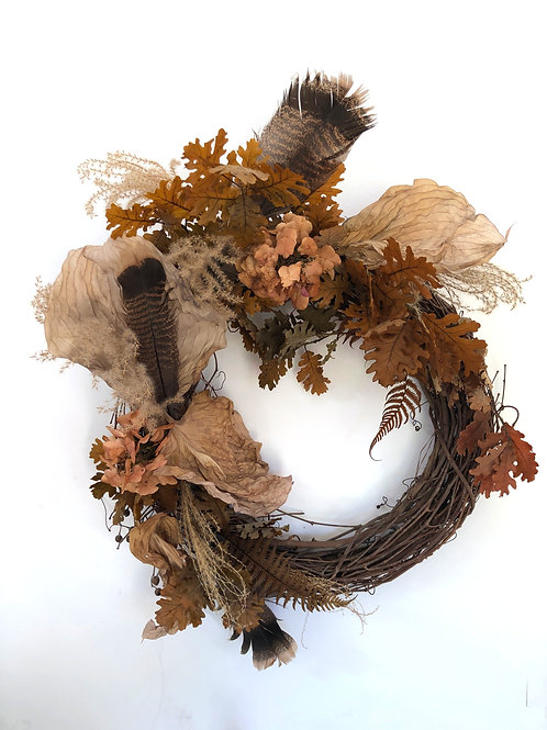 Birds of a Feather Dried Wreath