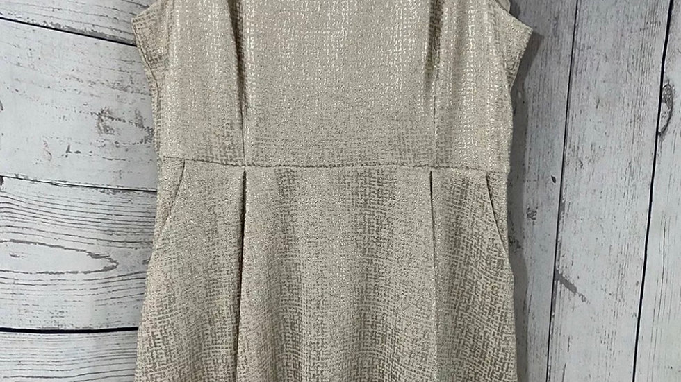 Womens / Ladies Dorothy Perkins Gold Dress Size 16 New With Tags