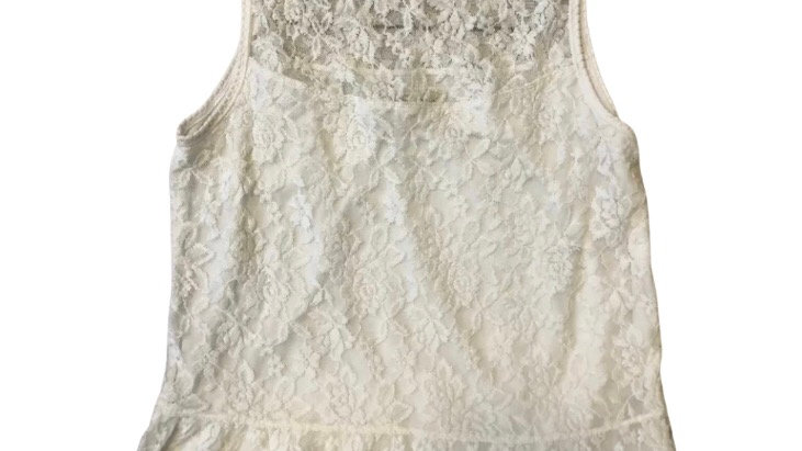 Womens / Ladies Abercrombie & Fitch Lace White Top Size Large Excellent