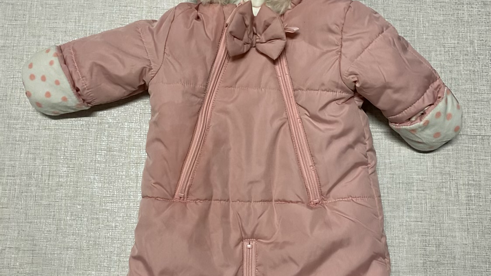 Baby Girls Jessica Simpson Pink Snow Suit Age 3-6 Months Immaculate.