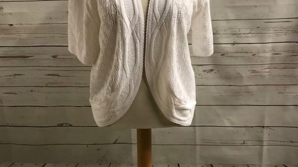 Womens / Ladies Glimpse Design Knitted White Cardigan Size L/XL NEW