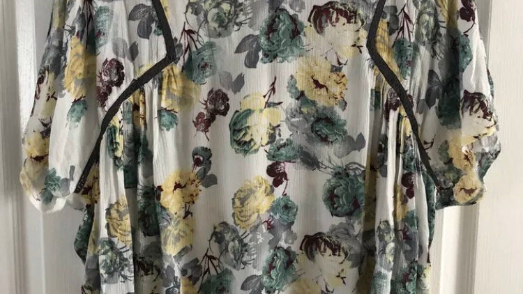 Womens / Ladies Next Floral Summer Blouse Top Size 18 Immaculate