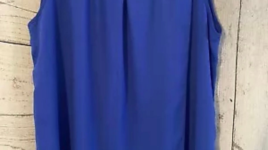 Womens / Ladies Roman Blue Vest Blouse Size 16 Immaculate Condition