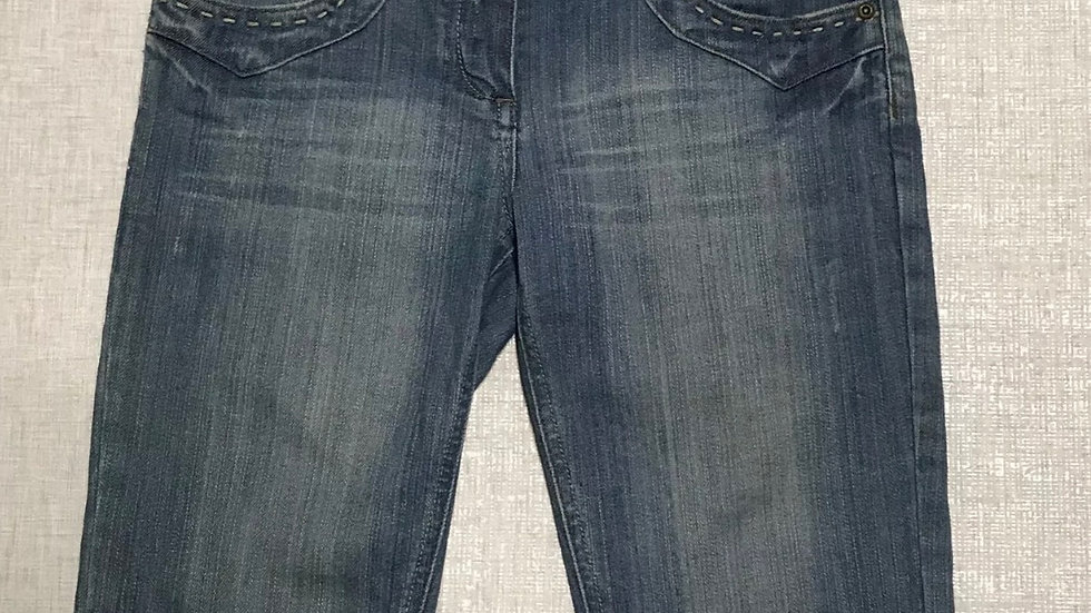 Womens / Ladies Miss Selfridge Blue Denim Knee Length Short Size 10 Immaculate