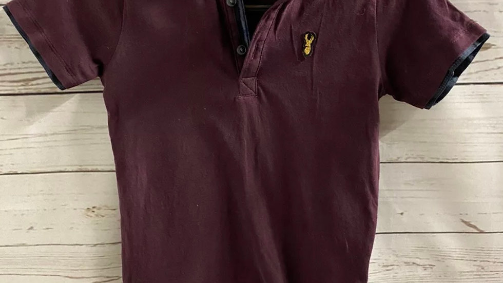 Boys Next Purple Polo Neck T-Shirt Age 4 Years Immaculate
