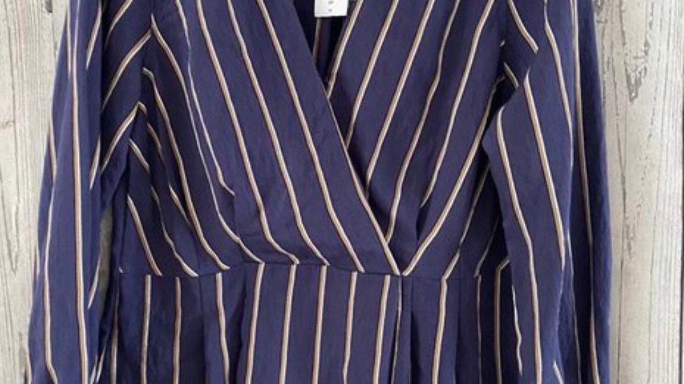 Women's / ladies topshop blue stripe shirt blouse size 12 NEW