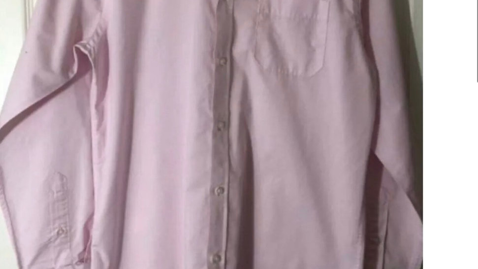"Men 's Debenhams Pink Classic Fit Long Sleeve Shirt Size Medium 15"" Collar"