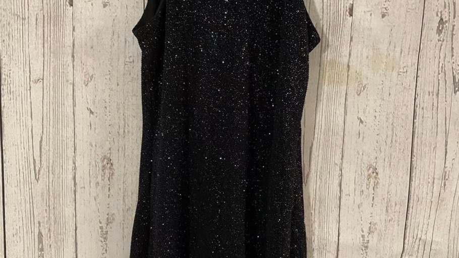 Girls New Look Glitter Sparkle Bodycon Dress Age 10-12 Years Immaculate
