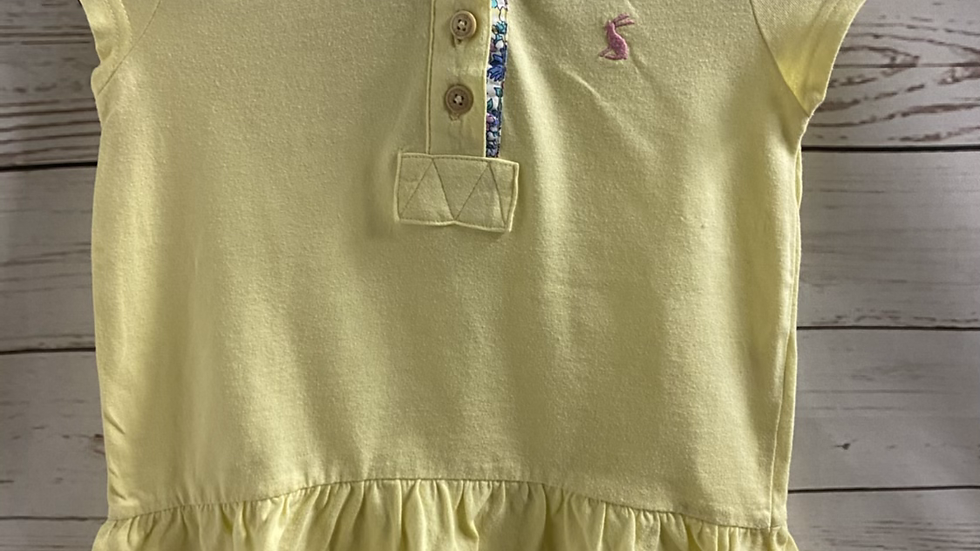 Girls Joules Yellow Short Sleeve T-shirt Age 3-4 Years Immaculate