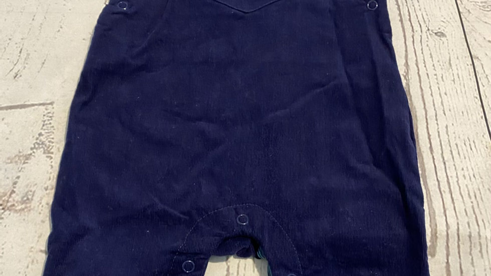 Baby Boys Mothercare Navy Corded Dugarees Age 1-3 Months Good Condition.