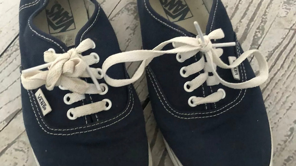 Mens Vans Blue Trainers Size 5.5 fair condition