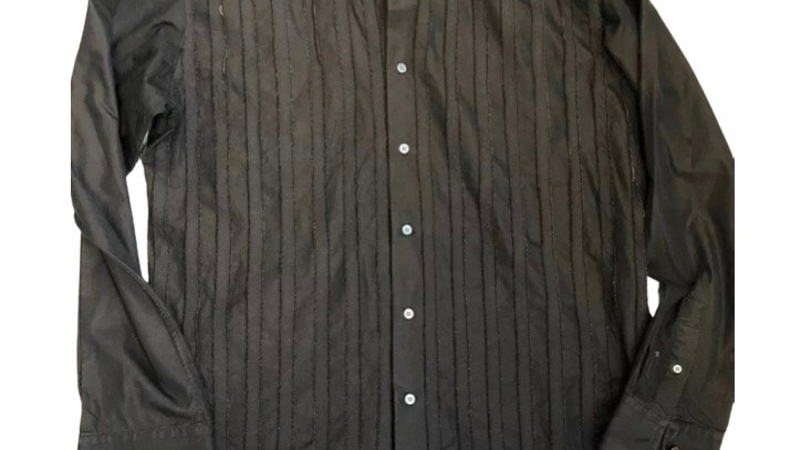 Mens Ted Baker Black / Brown Long Sleeve Shirt Size 6. Excellent Condition