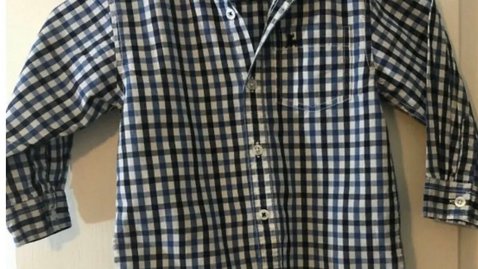 Boys Primark Rebel Blue Check Long Sleeve Shirt Age 3-4 Years Immaculate