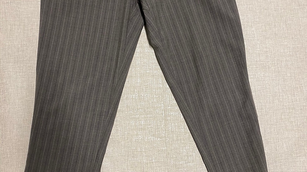 """Mens Dwyer & Co Grey Pink Stripe Trousers Size 34"""" Waist Immaculate"""