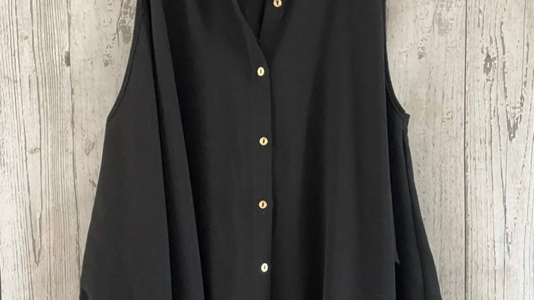 Womens / Ladies River Island Black Cut Out Shouldet Shirt Top Size 10 Immaculate
