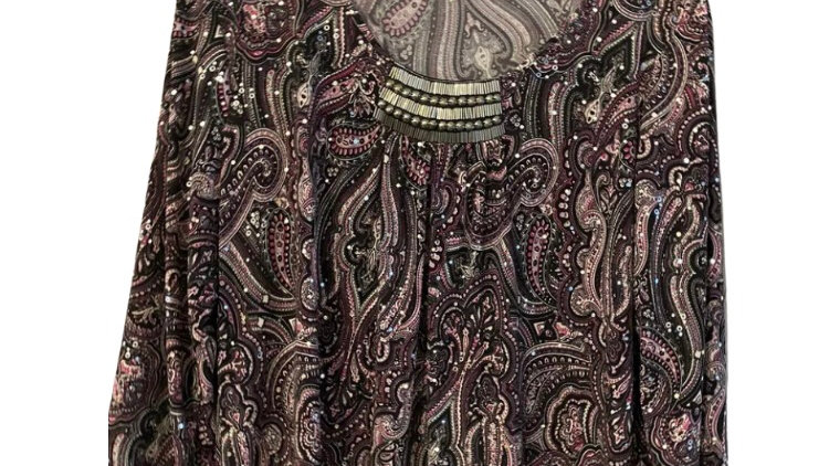 Womens / Ladies Roman Purple & Sequence Top Size 18 Excellent Condition