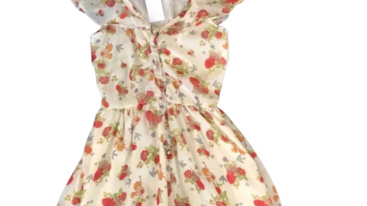 Women's / ladies cream floral playsuit size small excellent condition