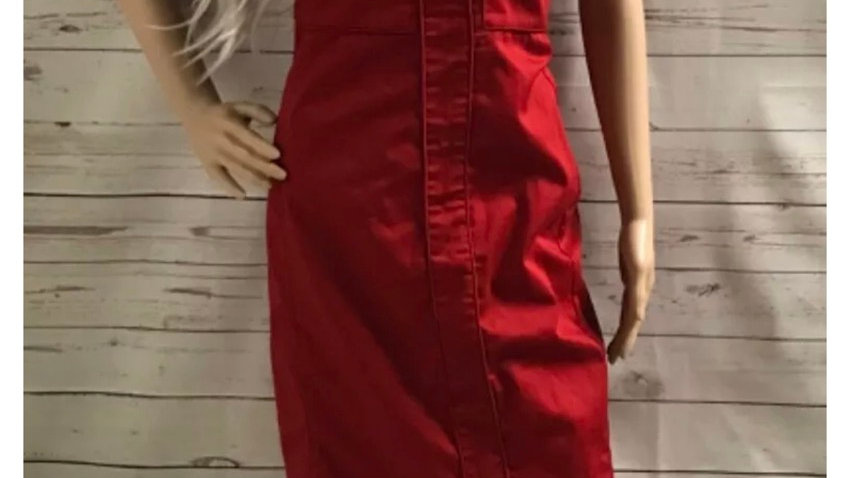 Women's / Ladies Dorothy Perkins Red Strapless Dress Size 12 - Immaculate