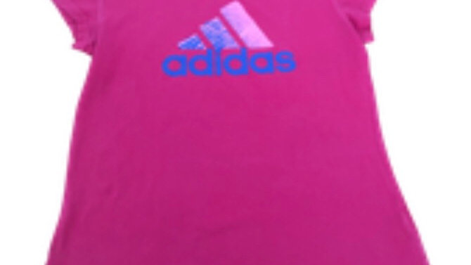 Womens / Ladies Adidas Pink Short Sleeve T-Shirt Size 12-14 Excellent Condition
