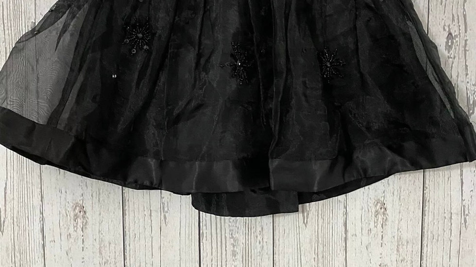 Girls Next Black Mesh & Lined Floral Skirt Age 7 Years Immaculate Condition